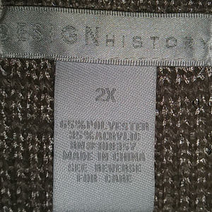 Design History Sweaters - Design History Waterfall Open Front Size 2X Taupe